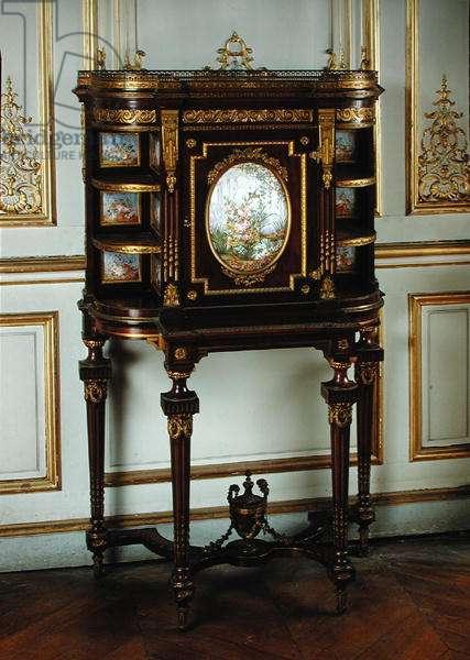 Bonheur du jour with Sevres panels, Second Empire Style (wood, bronze & porcelain)
