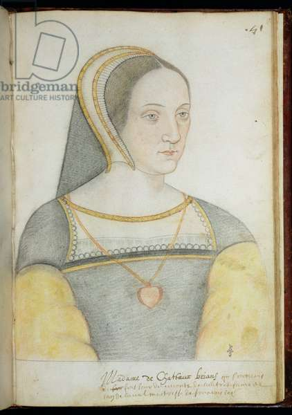 Francoise de Foix (1495-1537) Countess of Chateaubriant (pencil on paper)