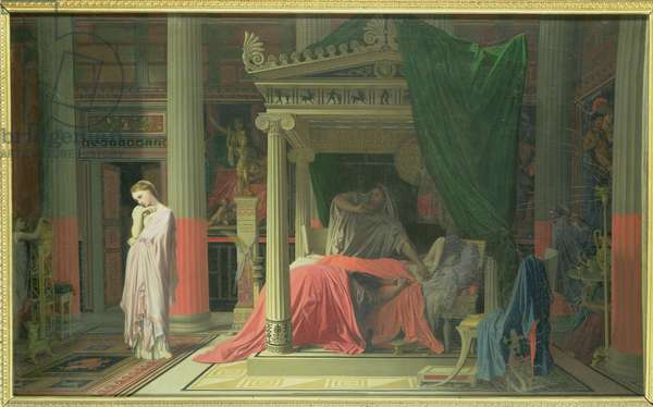 Antiochus and Stratonice, 1840 (oil on canvas)