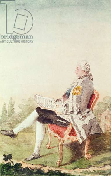 Count Michel Oginski, Aide de Camp to the Duke of Orleans, 1759 (pencil, w/c & gouache on paper)