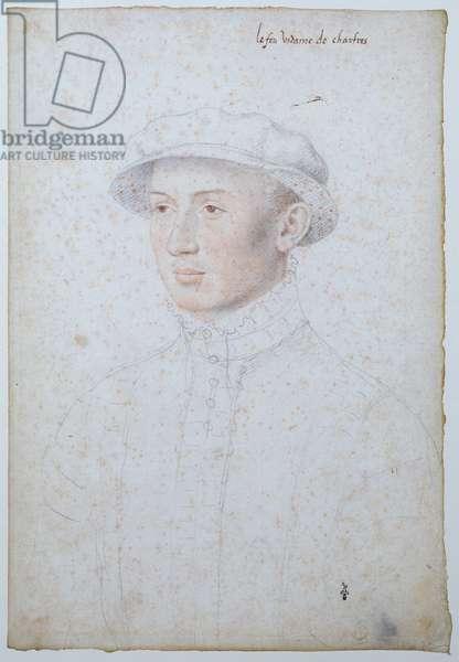 Francois de Vendome, after 1556 (coloured pencil on paper)