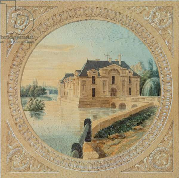 The Belvedere from a Map of the gardens of Chantilly (w/c on paper)
