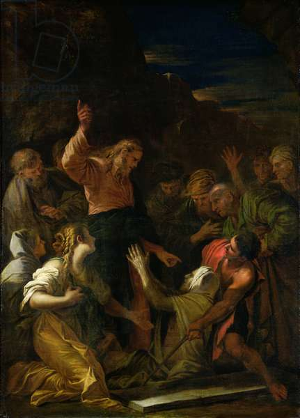 The Raising of Lazarus (oil on canvas)