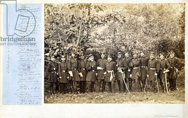 Military Staff of the Potomac Army, c.1861-62 (b/w photo)