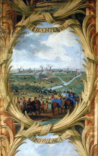 The Battle of Lichtenau in 1644 (oil on canvas)