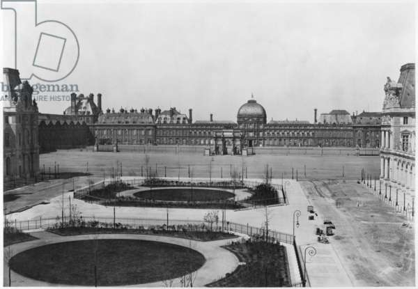 The Louvre and the Tuileries Palace seen from the Cour Napoleon, Paris, c.1860 (albumen print)