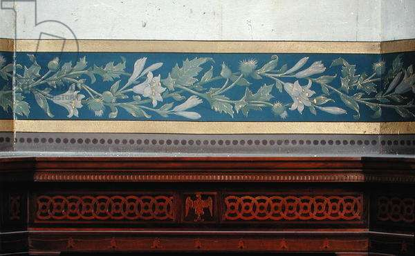 Decorative band with lilies and thistles (mural)