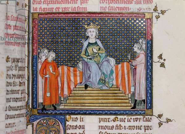 Ms 137/1687 fol.109r Solomon Enthroned (vellum)