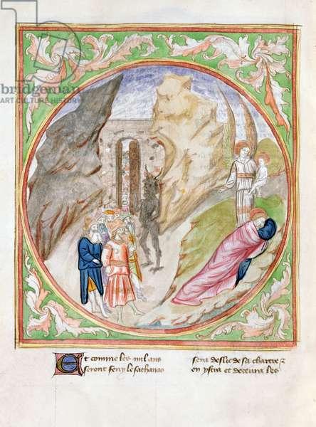Ms. 28/1378 fol.113v Page from 'Histoire Extraite de la Bible et Apocalypse' (vellum)