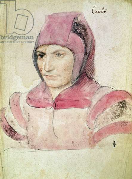 Catelot (known as Catherine), dwarf of Queen Eleanor, c.1537 (pencil and watercolour on paper)