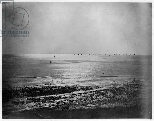 Seascape, c.1856-57 (albumen print from a glass negative) (b/w photo)