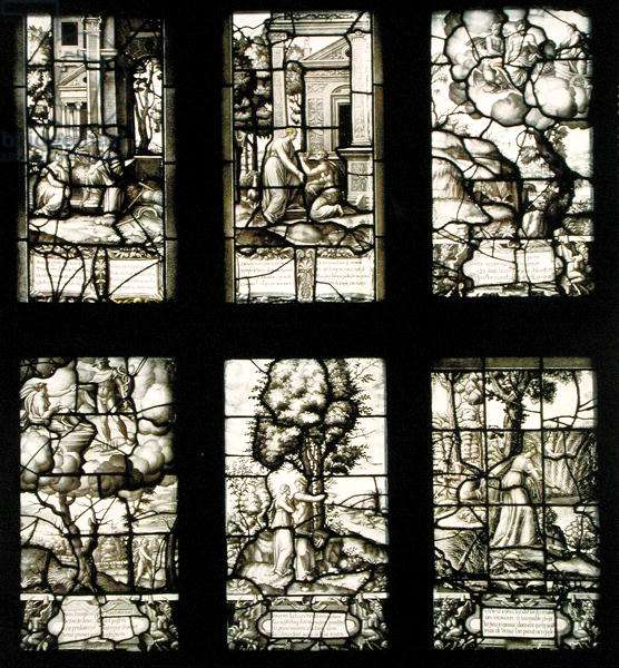 The Story of Cupid and Psyche, from the Galerie de Psyche, Chateau d'Ecouen, 1542-44 (stained glass)