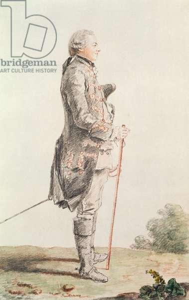 Le Comte de Coigny (1740-1817) 1759 (pencil, w/c & red chalk on paper)
