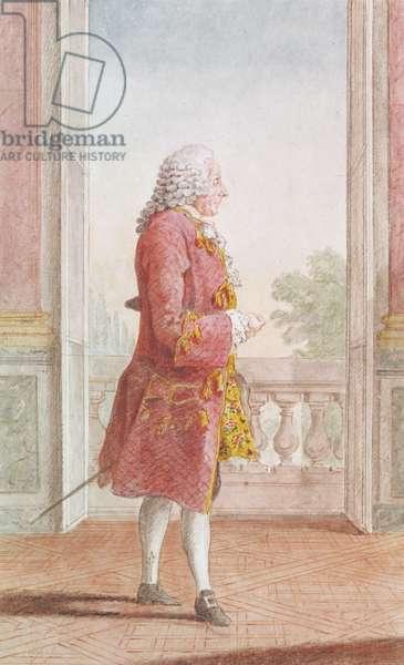 Francois Augustin Paradis de Montcrif, secretary to the Queen Marie Leczinska (1687-1770) (pencil, w/c & gouache on paper)