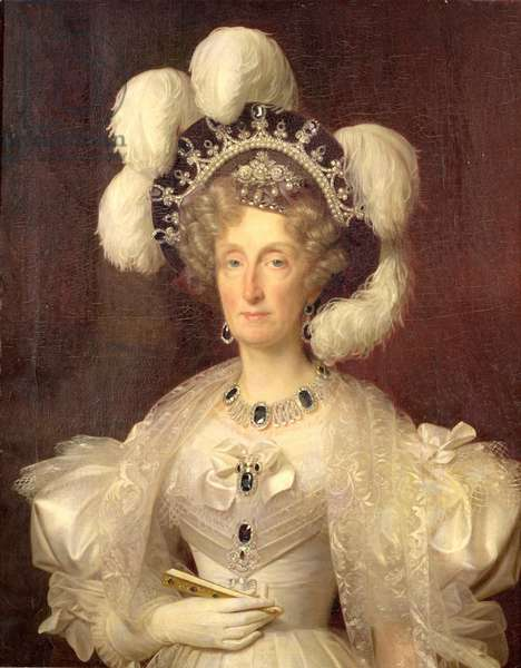 Portrait of Queen Marie Amelie of Bourbon (1782-1866) 1828-29 (oil on canvas)