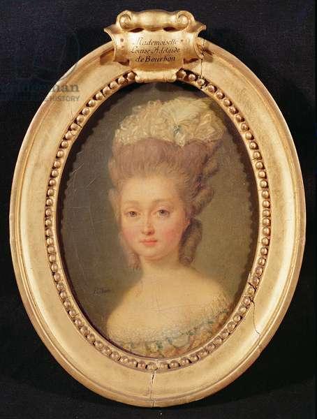 Portrait of Louis-Adelaide de Bourbon-Penthievre (1753-1821) (oil on canvas)