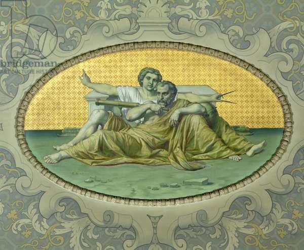 Astronomy, from the Galerie de Peinture, 1859 (mural)