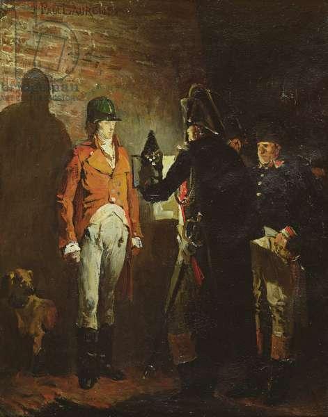 Louis Antoine Henri de Bourbon (1772-1804) Duke of Enghien in the castle moat at Vincennes (oil on canvas)