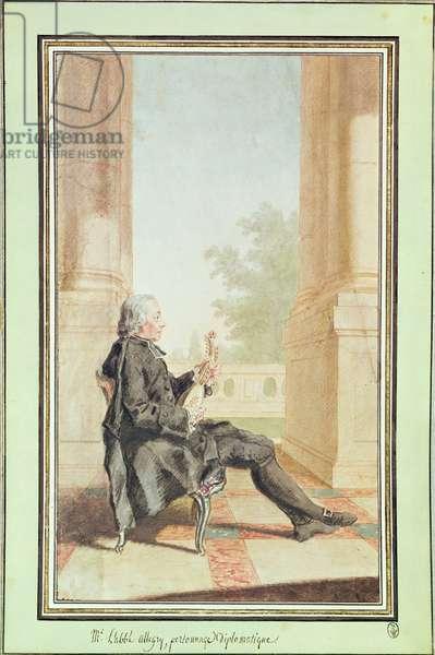 Abbot Allegri   (pencil, w/c & gouache on paper)