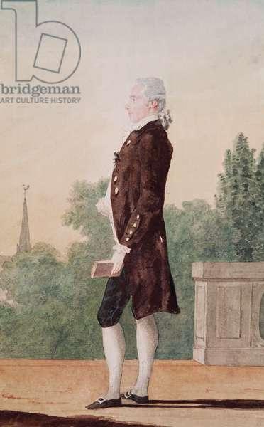 Le Chevalier de la Porte (pencil, w/c & gouache on paper)