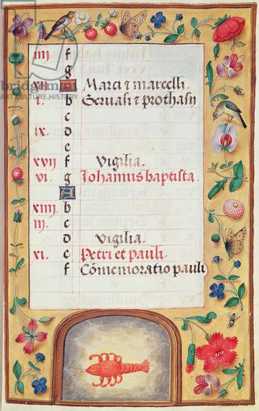 Ms 86/1178 The Month of June, from the 'Heures de la Tour et Taxis' (vellum)