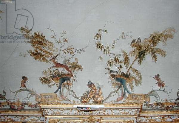 The Deer Hunt, detail from the ceiling of 'La Grande Singerie', c.1735 (mural)