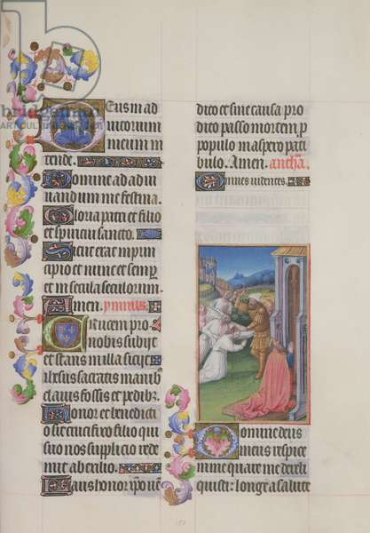 Ms. 65/1284 fol. 150r Prayer of the Passion, from 'Très Riches Heures du Duc de Berry' (vellum)