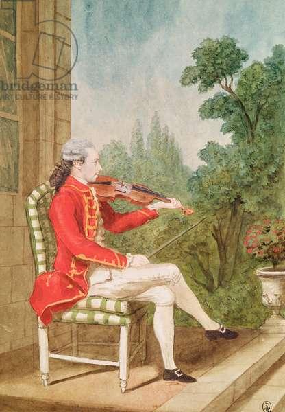Chevalier du Dreneuc, 1765 (pencil, w/c & gouache on paper)