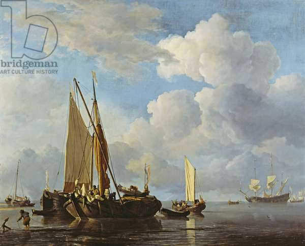 Calm Sea (oil on canvas)