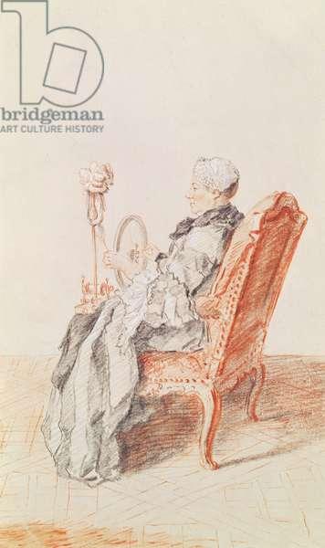 Mademoiselle Lefevre, 1758 (pencil & red chalk on paper)