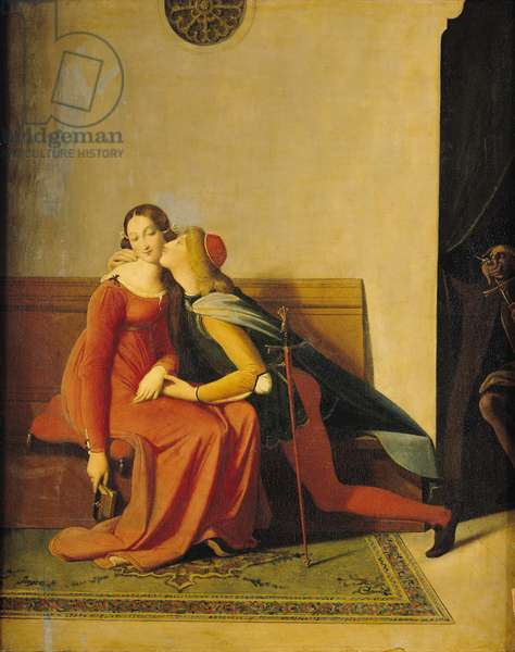 Gianciotto Discovers Paolo and Francesca, 1814 (oil on canvas)