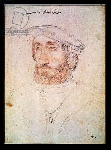 Jean de Laval (1486-1543) Seigneur de Chateaubriand (pencil on paper)
