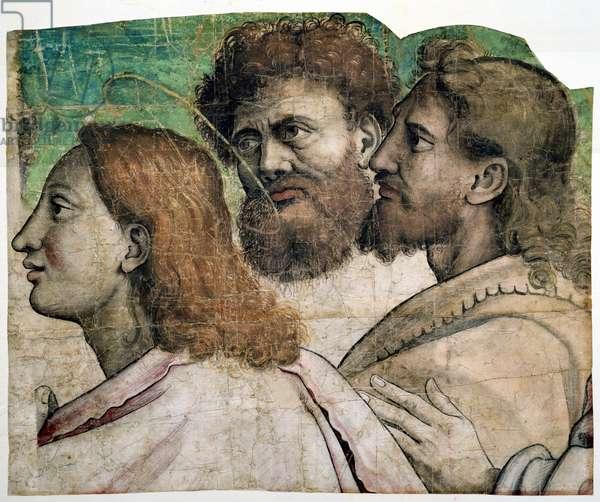 St. Peter Receiving the Keys to Heaven (fresco) (detail)