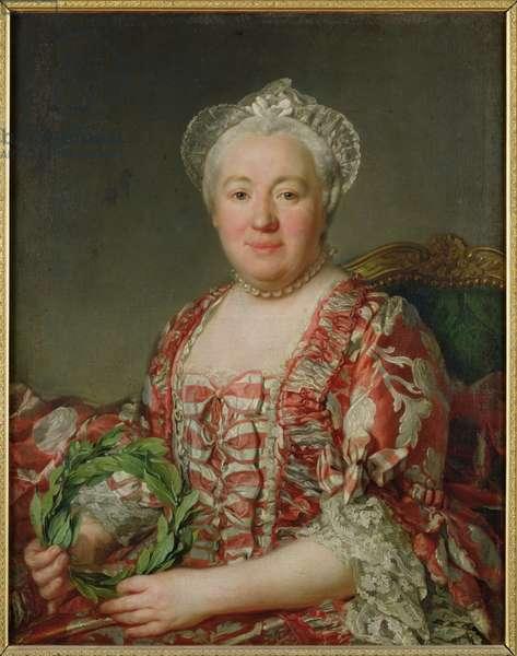 Portrait of Madame Denis (1712-90) (oil on canvas)