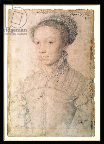 Elisabeth of France (1545-68) 1559 (red chalk on paper)