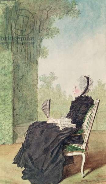 La marquise de Montpezat (pencil, watercolour, gouache and red chalk on paper) 1769