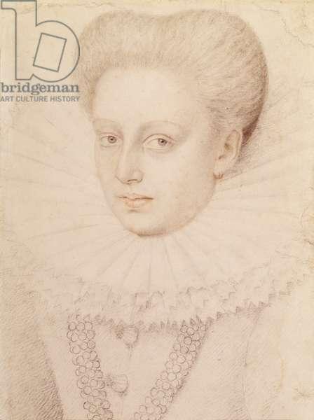 Marie de Lorraine, Duchesse d'Aumale in 1576 (pencil on paper)