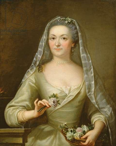 Portrait of Marie-Catherine de Champeron (1711-86) Marquise de Chateaumorand (oil on canvas)