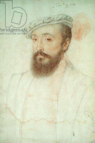 Bertrand Raimbaud V de Simiane (1513-88) Baron de Gordes, c.1550 (pencil on paper)