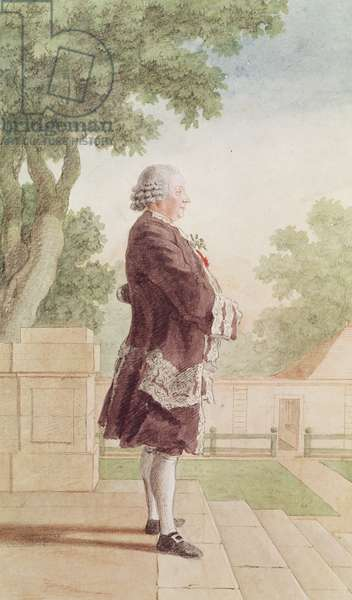 Louis Vespasien de Cossart, Marquis d'Espiez, c.1766 (pencil, w/c & gouache on paper)