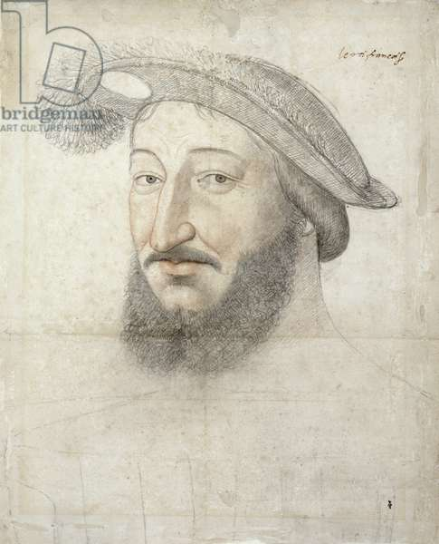 Francois I (1494-1547) c.1540-45 (pencil on paper)