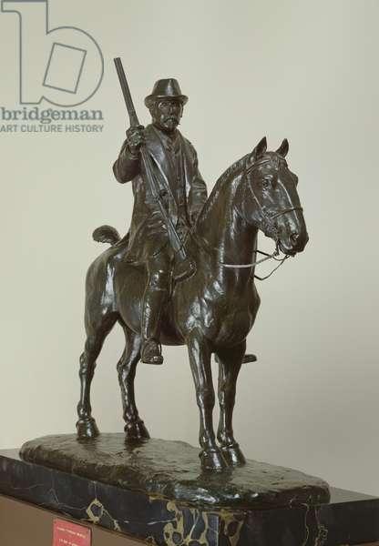 The Duke of Aumale on horseback (bronze)