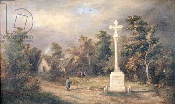 The Cross of Trieve, 1828 (oil on canvas)
