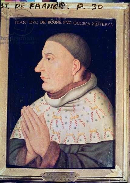 Jean Sans Peur (1373-1419) Duke of Burgundy (oil on panel)