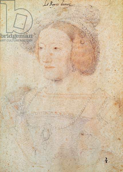 Eleanor of Austria (1498-1558) Infanta of Spain, daughter of Jane of Aragon and Philip of Austria, Queen of Portugal (1519-1521) then Queen of France (1530-1547), c.1531 (pencil on paper)
