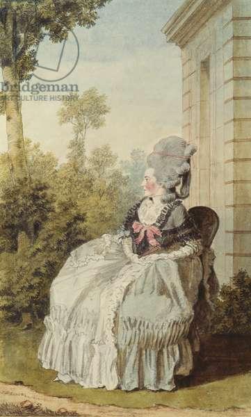 Francoise-Bernarde-Therese-Eugenie de Roy de Vaquieres, Marquise de Coetlogon, 1764-70 (pencil, w/c & gouache on paper)