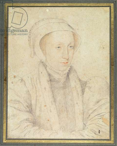 Portrait presumed to be of Mary of Guise (1515-60) (pencil on paper)