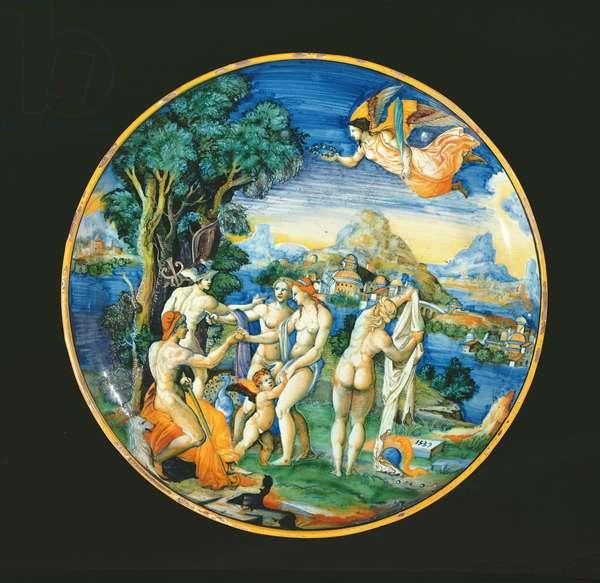 Dish depicting the Judgement of Paris, 1539 (ceramic)