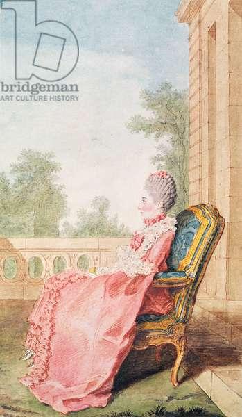 The Countess of Guiche, 1768 (pencil, w/c & gouache on paper)