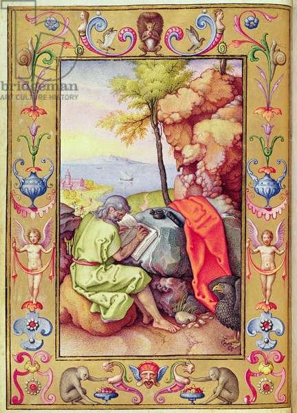 """Passio Domini nostri Jesu Christi secundum Joannem"", Saint John at Patmos"